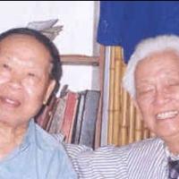 Với Huy Cận, Hanoi 2000