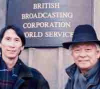 Duy Cường và bố tới Đài BBC